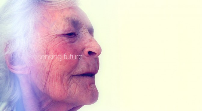 an old woman sensing future