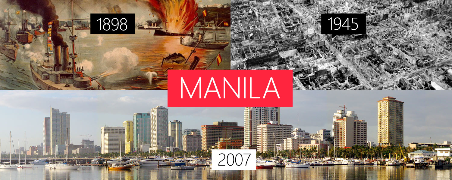 Radical changes in infrastructure over time – Infrastructure itself transforms but doesn't get lost: Here: Manila
