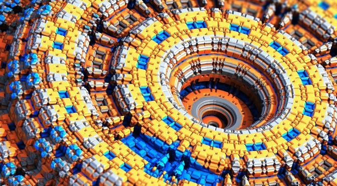 Eine Struktur aus bunten Bausteinen